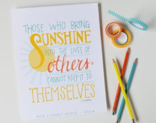Those Who Bring Sunshine Into the Lives of Others Cannot Keep it to Themselves